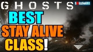 "COD Ghosts ""BEST STAY ALIVE CLASS"" - Tips & Tricks! - How to Stay Alive in Call of Duty: Ghosts"