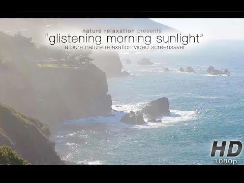 Glistening Morning Sunlight in Big Sur: Endless Nature Scene 1080p 1 Hour