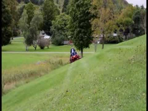 how to use mow with ride on mower pattern