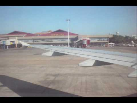 Plane Landing on Mactan-Cebu International Airport