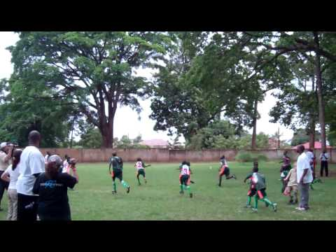 Starkey Hearing Foundation and PROS FOR AFRICA playing soccer deaf students in Africa