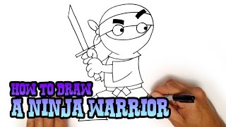 How to Draw a Cartoon Ninja from Cartooning4Kids | C4K