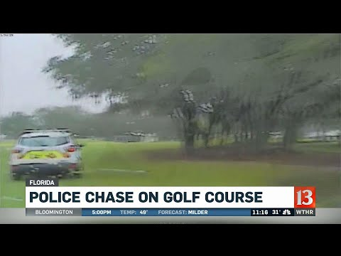 Police chase on Florida golf course