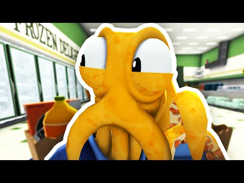 STEALING AT THE GROCERY STORE!! | Octodad