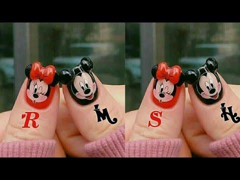 Mickey mouse nail art designs//Latest Stylish Nail Art designs//Fashion Trend of Nails art//Nails