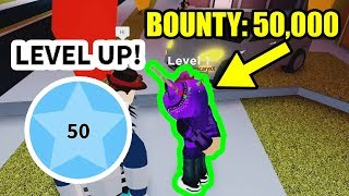 ARRESTING 50000 BOUNTY PLAYER for LEVEL 50 POLICE... | Roblox Jailbreak