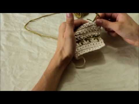 How to Crochet Spike Stitch and Crow Foot Stitch