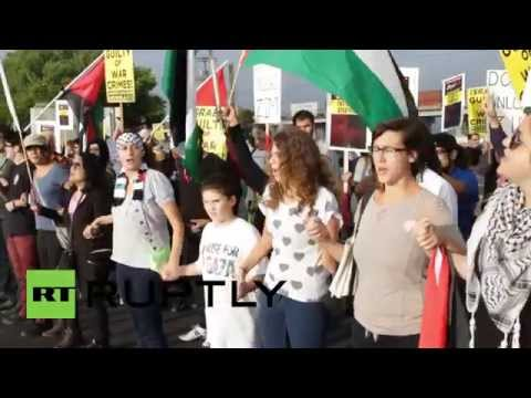 USA: Pro-Palestine protesters hit LA port to block Israeli ship