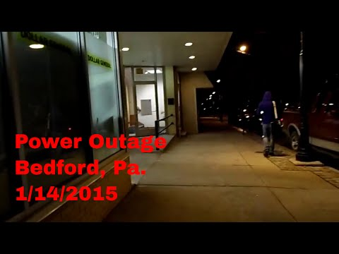 power outage Bedford Pa 1 14 15 video 2