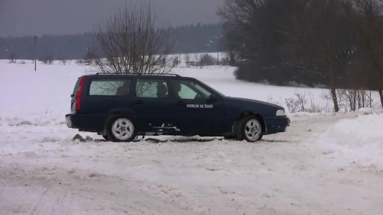 V70 awd 2 5 193hp 4x4 snow drifting youtube