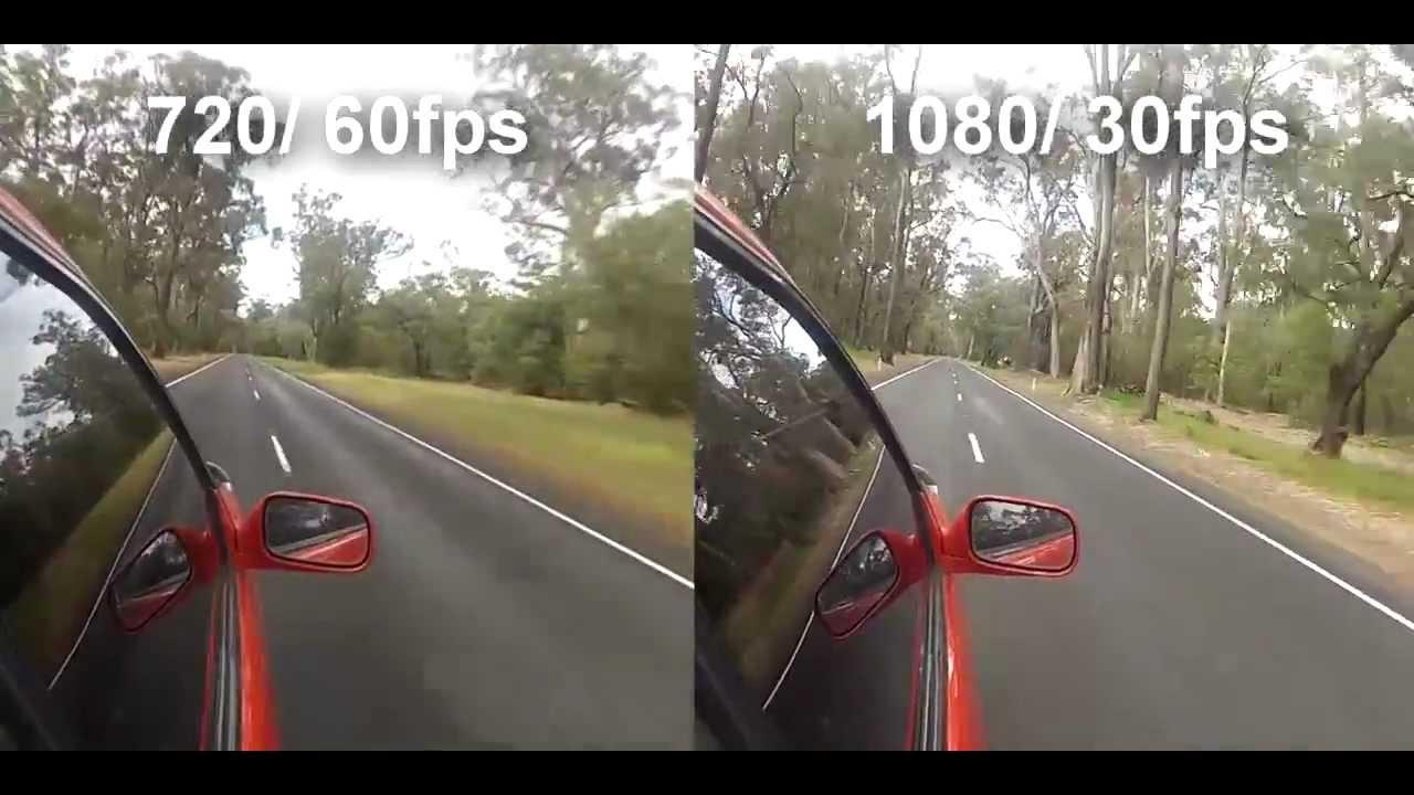 Gopro 720 60 fps vs 1080 30fps youtube