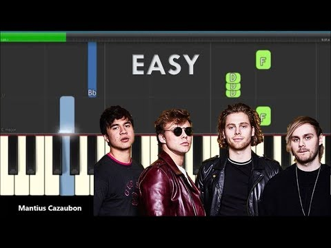 5 Seconds Of Summer Youngblood Easy Piano Keyboard Tutorial