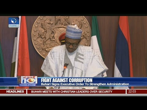 Buhari Signs Executive Order To Strengthen Fight Against Corruption
