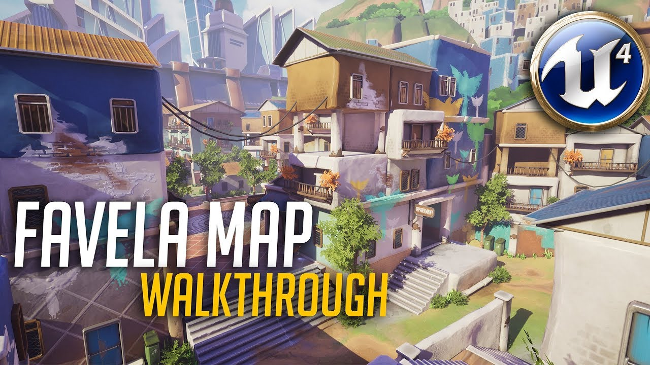 Favela Map Walkthrough Unreal Engine Overwatch