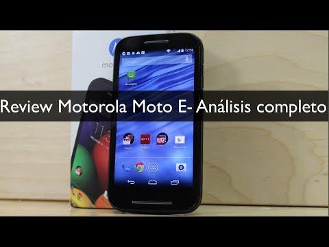 Review Motorola Moto E  - Análisis completo