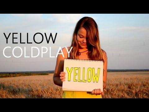 yellow coldplay music video lyrics