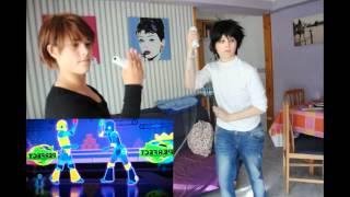 L and Light dancing JUST DANCE 3 @ COSPLAY Death Note [デスノート, Desu Nōto]