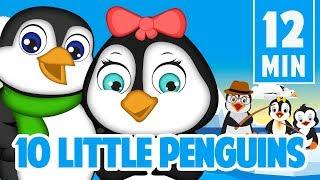 Ten little penguins counting song collection for kids | Leigha Marina