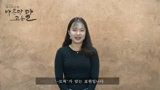 [중부대학교 언론사 중부TV] 바른말 고운말 2편_바른말 표기법 무엇이 맞을까?