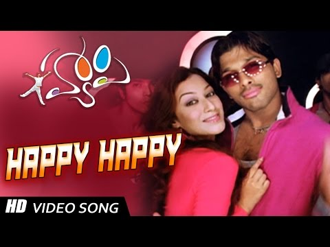 'happy' Title Song- Allu Arjun, Genelia video