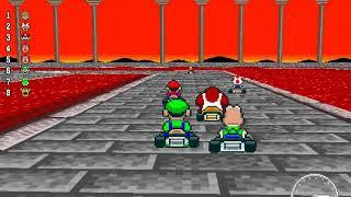 New Super Mario Kart - 100cc Flower Cup (Unlocking Toadsworth)