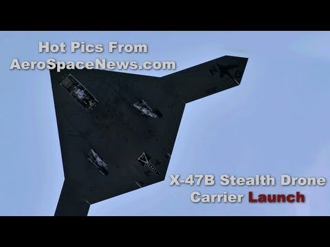 X-47B First Aircraft Carrier Launch HD Video from AeroSpaceNews.com Hot Pics Series
