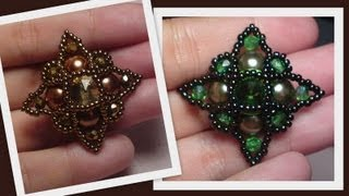 Startopia Pendant Beading Tutorial by HoneyBeads1 (Photo tutorial)