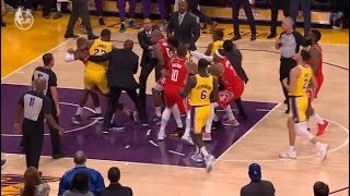 Rockets vs Lakers - Full Fight (Punches) - Ingram, Rondo, CP3 get ejected!
