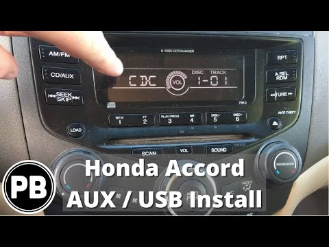 2003 - 2007 Honda Accord Factory Aux / USB Install