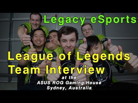 League of Legends Legacy eSports Team Interview