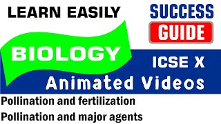ICSE IX BIOLOGY Pollination and fertilization-2- Pollination and major agents by Success Guide