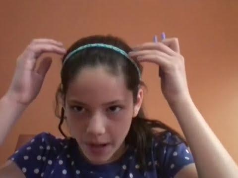 Como hacer un cintillo de elasticos!!!