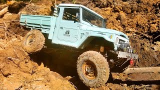 RC Extreme Pictures — RC Cars OFF Road 4x4 Adventure — Jeep Rubicon and Toyota FJ45 vs R1 Buggy