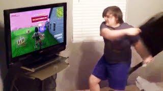 KID DESTROYS $5,000 TV OVER FORTNITE (RAGE)