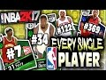 EVERY NBA PLAYER RANDOM NUMBER GENERATOR! NBA 2K17 SQUAD BUILDER -