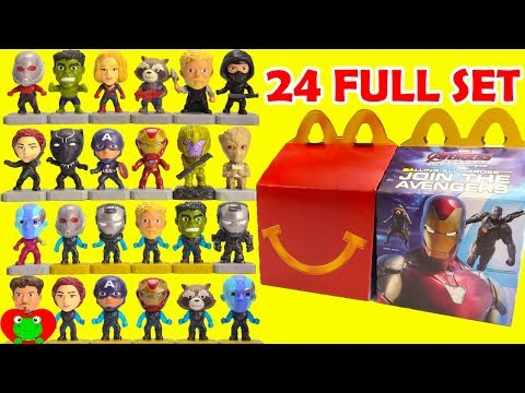 2019 Avengers Endgame McDonald's Happy Meal Toys Full Set of 24
