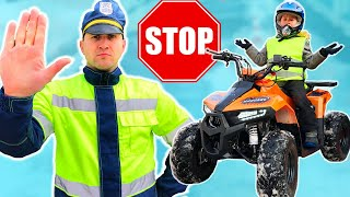 Baby biker Super Lev Ride on Quad Bike and Adventure with Sidewalk Cops