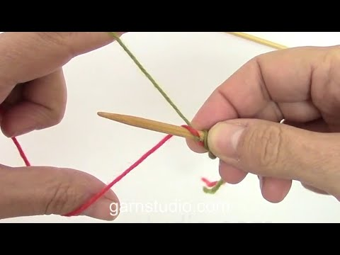How to make an invisible cast on in double knitting