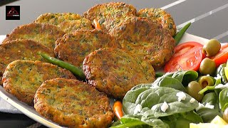 Delicious and Quick Vegetarian Meal - کتلت کدو سبز