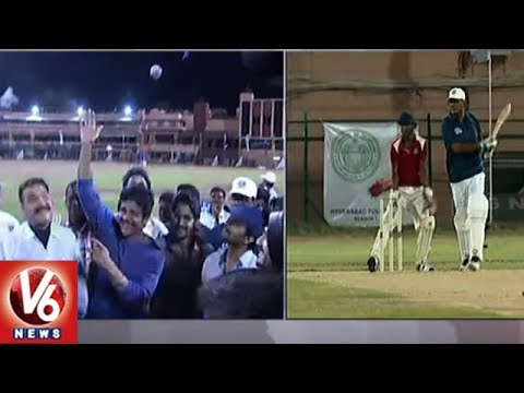 Celebrity Team Beat Hyderabad Police Team By 14 Runs | Hyderabad | V6 News