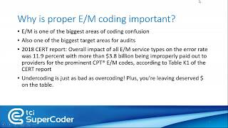 How to use E/M Coding Calculator? A webinar on Accurate Evaluation and Management Coding Calculator.