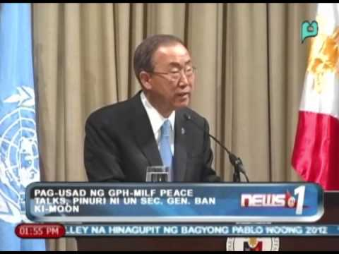 News@1: Pag-usad ng GPH-MILF peace talks, pinuri ni UN Sec. Gen. Ban Ki-Moon