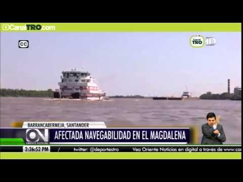 Afectada navegabilidad en el río Magdalena