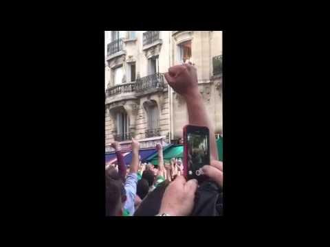 French local loving Irish fans - Euro 2016 France Paris Balcony