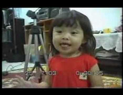 cute MALAY girl singing