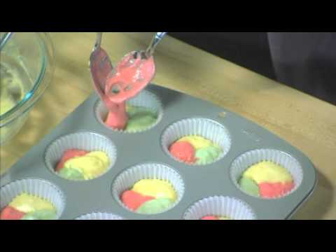Jell-O Tie Dye Fruity Cupcakes - YouTube