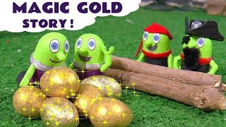 Funny Funlings Golden Egg Prank with Thomas and Friends and Captain Funling Story TT4U
