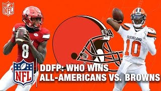 By How Much Would the Cleveland Browns Beat the NCAA All-America Roster? | NFL Network | DDFP
