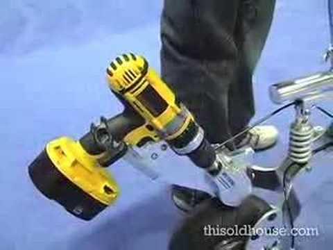 Drill-Powered Bike
