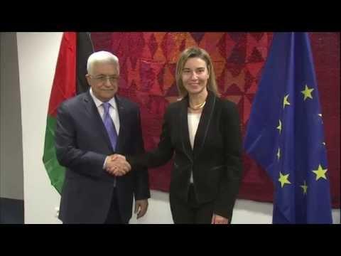 HRVP Federica MOGHERINI receives Mahmoud ABBAS, President of Palestine